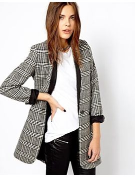 mango-checked-oversized-blazer by mango
