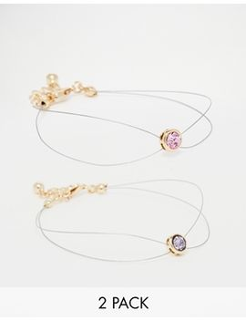 asos-illusion-pastel-stone-bracelet-multi-pack by asos-collection