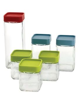 glasslock-12-piece-square-block-canister-set by glasslock