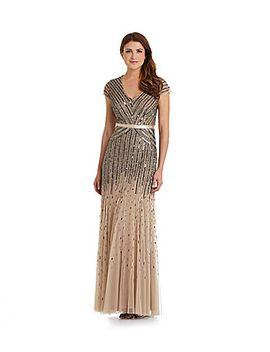 adrianna-papell-petite-beaded-gown by generic