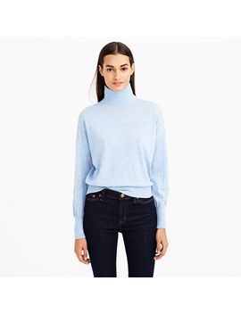heathered-merino-wool-turtleneck-sweater by jcrew