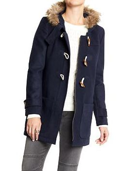 womens-hooded-toggle-coats by old-navy