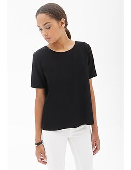 boxy-woven-tee by forever-21