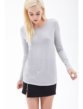 shadow-striped-knit-top by forever-21