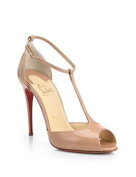 senora-patent-leather-t-strap-pumps by christian-louboutin