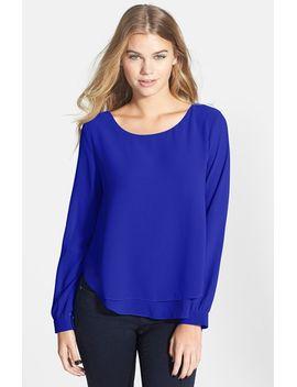 layered-chiffon-blouse by lush