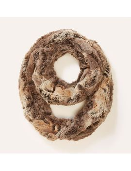 ombre-faux-fur-infinity-scarf by loft
