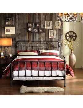 giselle-antique-graceful-dark-bronze-victorian-iron-bed-by-inspire-q-classic by inspire-q