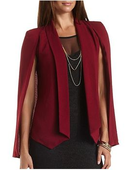 crepe-cape-blazer by charlotte-russe