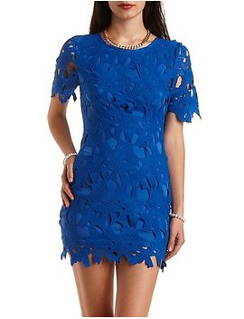 short-sleeve-floral-lace-dress by charlotte-russe
