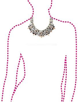 mixed-metal,-pearl-&-jewel-statement-necklace by charlotte-russe