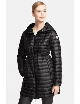 barbel-belted-hooded-down-coat by moncler