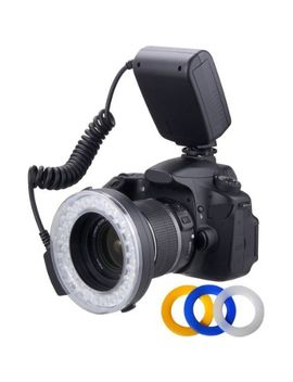 macro-led-ring-flash-&-light-includes-4-diffusers-(clear,-warming,-blue,-white)-for-the-nikon-d3000,-d3100,-d3200,-d3300,-d5000,-d5100,-d5200,-d5300,-d7000,-d7100,-d3,-d4,-d40,-d40x,-d50,-d60,-d70,-d70s,-d80,-d90,-d100,-d200,-d300,-d600,-d610,-d700, by plus-dig