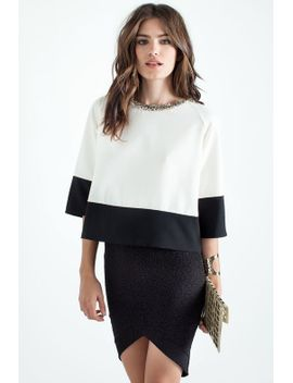 elsa-colorblock-blouse by agaci