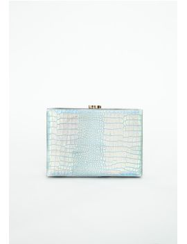dione-holographic-croc-clutch-bag-multi by missguided