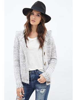 fuzzy-hooded-toggle-cardigan by forever-21