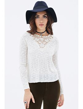 crochet-paneled-sweater by forever-21