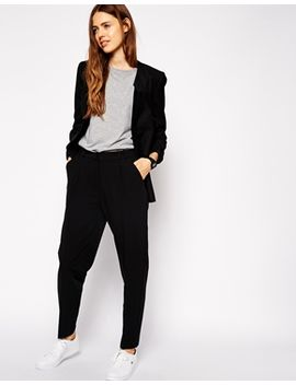 asos-pants-in-high-waist-with-straight-leg by asos-collection