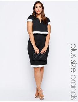 lipstick-boutique-plus-2-in-1-cape-pencil-dress by lipstick-boutique-plus