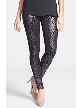 foiled-ponte-knit-leggings by hue