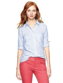shrunken-boyfriend-shirt by gap