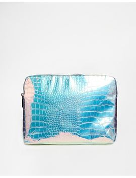asos-hologram-and-mesh-clutch-bag by asos-collection