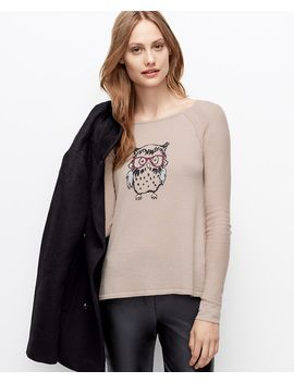 petite-owl-split-back-sweater by ann-taylor