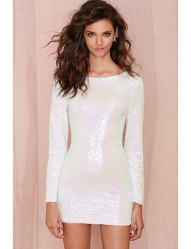 glamorous-let-it-snow-sequin-dress by nasty-gal