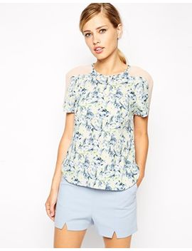 asos-printed-sheer-panel-t-shirt by asos-collection