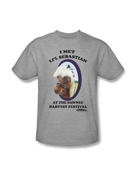 parks-&-recreation---lil-sebastian-adult-t-shirt-in-heather by parks-and-recreation