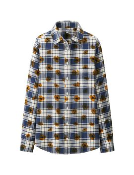 women-flannel-print-long-sleeve-shirt by uniqlo