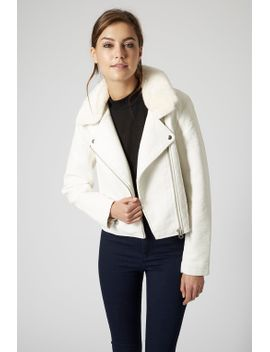petite-ultimate-faux-leather-biker-jacket by topshop