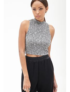 marled-mock-neck-top by forever-21