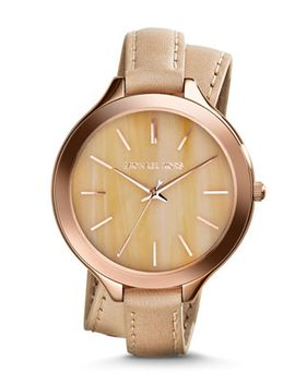 mid-size-rose-gold-leather-slim-runway-three-hand-watch by michael-kors