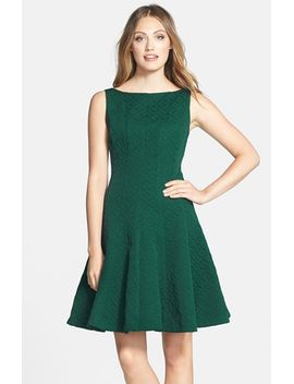 jacquard-fit-&-flare-dress by gabby-skye