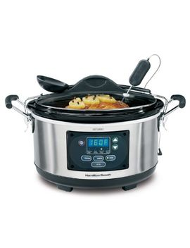 hamilton-beach-set-n-forget-programmable-slow-cooker-with-temperature-probe,-6-quart-(33967) by hamilton-beach