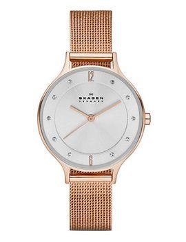 womens-anita-rose-gold-tone-stainless-steel-mesh-bracelet-watch-30mm-skw2151 by skagen
