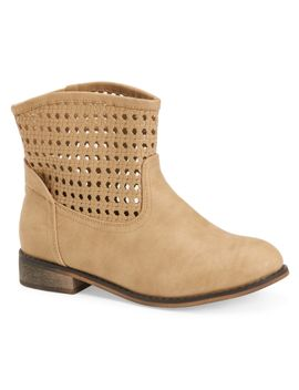 charles-albert-perforated-western-bootie by aeropostale