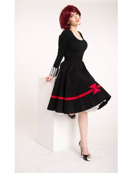 black-widow-inspired-vintage-style-full-circle-skirt-alter-ego-geeky-couture-range by seamsnostalgic