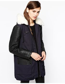 french-connection-rhumba-parka-with-faux-fur-lined-collar by french-connection