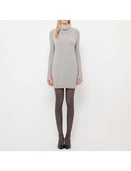 women-lambswool-blend-turtle-neck-dress by uniqlo