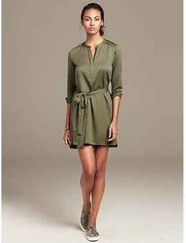 green-zip-front-shirtdress by banana-repbulic
