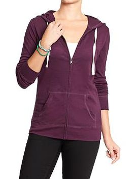 womens-lightweight-zip-front-hoodies by old-navy