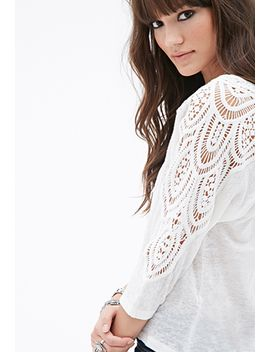 crocheted-linen-dolman-top by forever-21