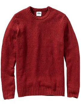 mens-wool-blend-crew-neck-sweaters by old-navy