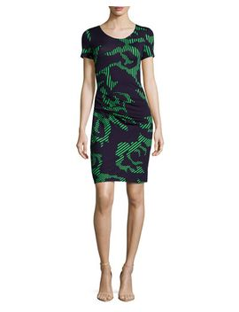 short-sleeve-printed-dress,-navy_grass by halston-heritage