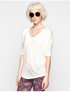 full-tilt-essential-womens-elbow-sleeve-v-neck-tunic by tillys