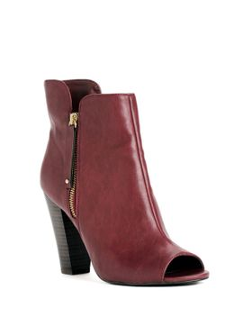 pre-order:-burgundy-peep-toe-booties by windsor