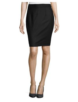 wool-blend-skirt,-black by nanette-lepore