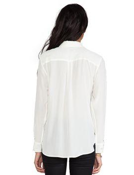 slim-signature-blouse by equipment